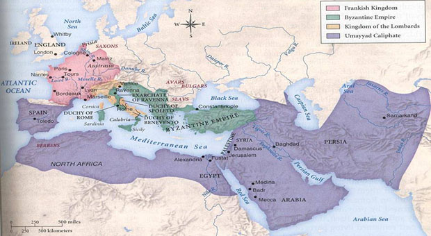 Islamic Caliphate Map Islam Map