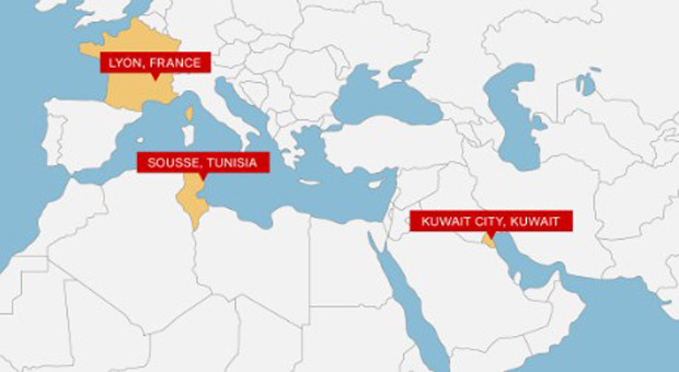 Attacks Across Three Continents