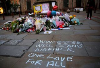 Memorial Flowers Manchester Attack