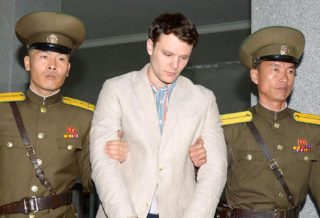 Otto Warmbier arrested