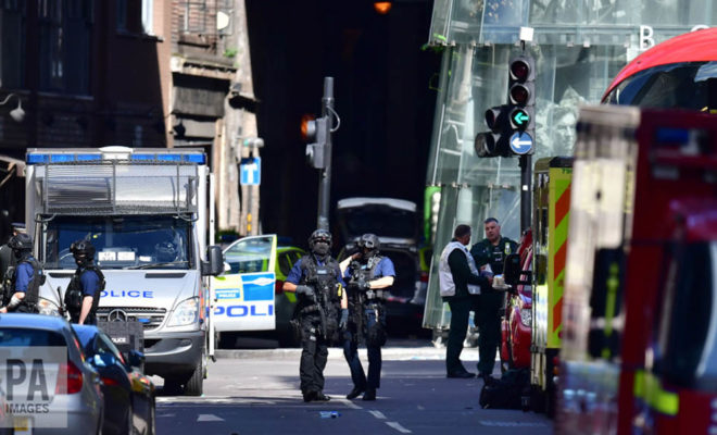 Police Officers London Attack Scene