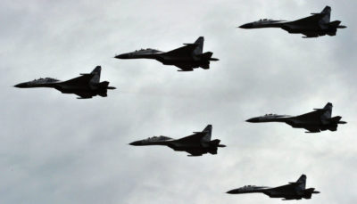 Russian jets bombing Syria